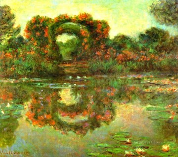Claude Monet Painting - The Flowered Arches at Giverny Claude Monet